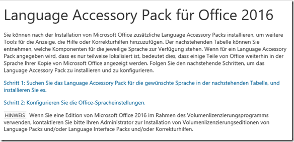 Language Accessory Pack for Office  Office Support